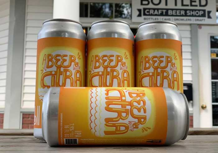 summer beer: A beer with citra