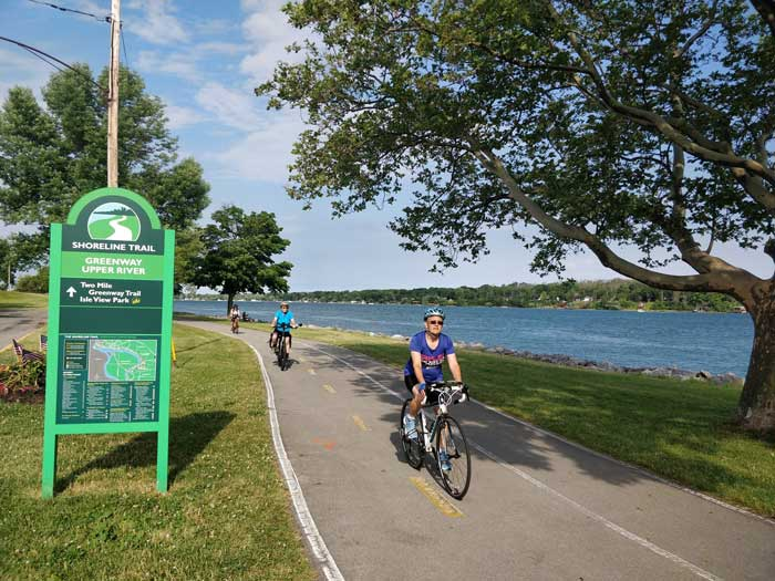 waterfront bike trail