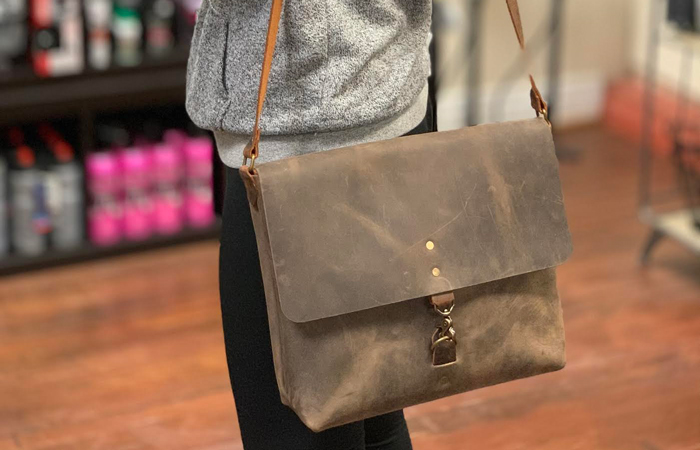 """Enter to Win A 13"""" Leather Montana Messenger Bag From Kickstand Culture"""