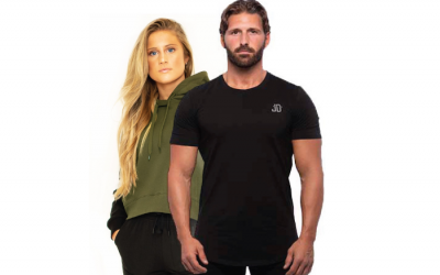 CLOSED: Enter to Win a Women's Crop Hoodie or a Men's Fitted Tee From Justin Draper Fitness