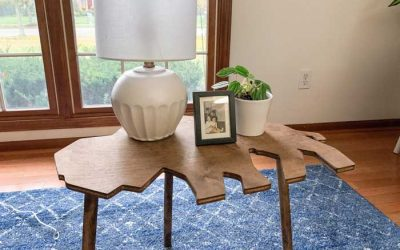 "Enter to Win a Wooden Buffalo Shaped Table & a ""Buffalo"" Cut Out Sign from Seven One Six Wood Design"