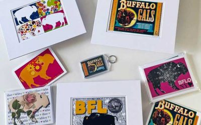 CLOSED: Enter to Win 3 Buffalo Gals Prints, a Key Chain, & 2 Sets of Note Cards from White Rabbit Design
