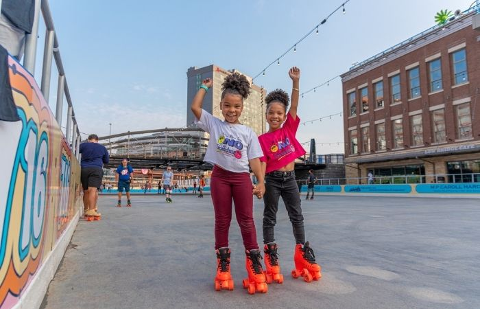 New: Roller Rink Opens for All Ages Fun at Canalside